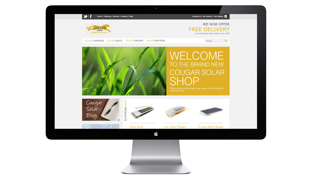 Web Design and Development of the Cougar Solar Website