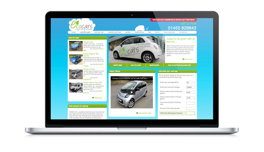 Web Design and Development of the Eco Cars Website