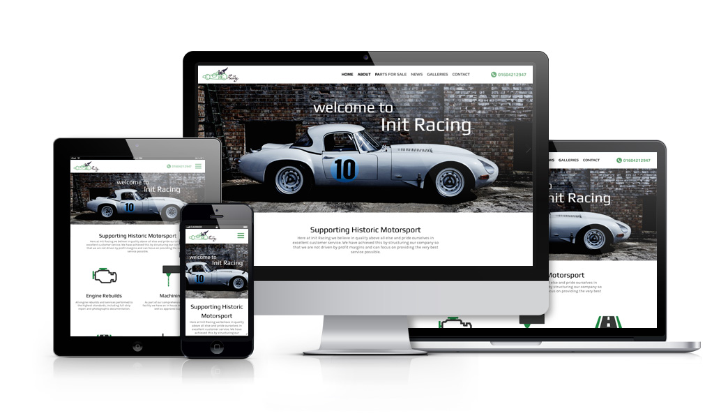 Stafford Based Responsive Web Design and Development For Init Racing